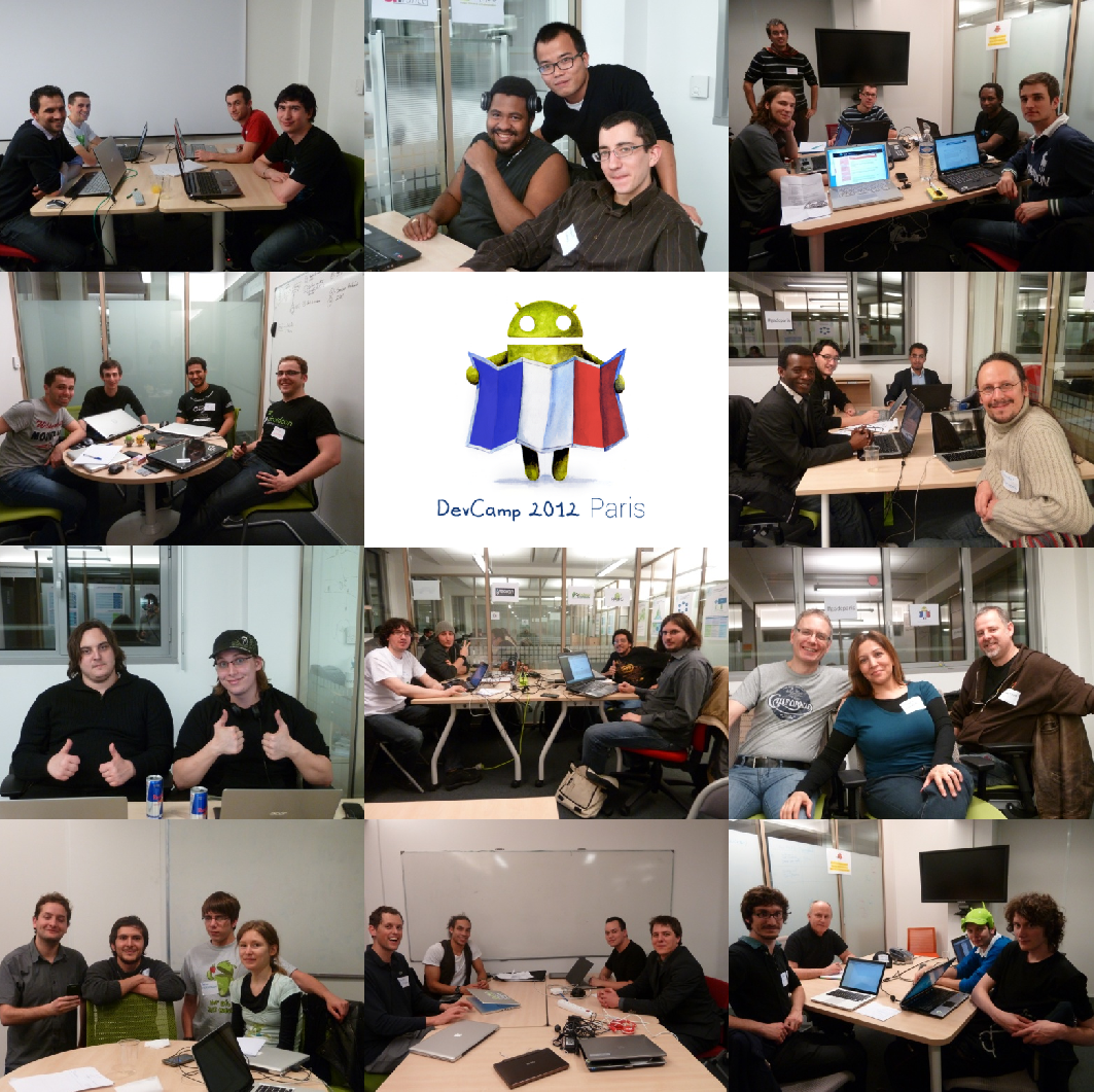 Les participants du Paris Android Dev Camp 2012 en une image
