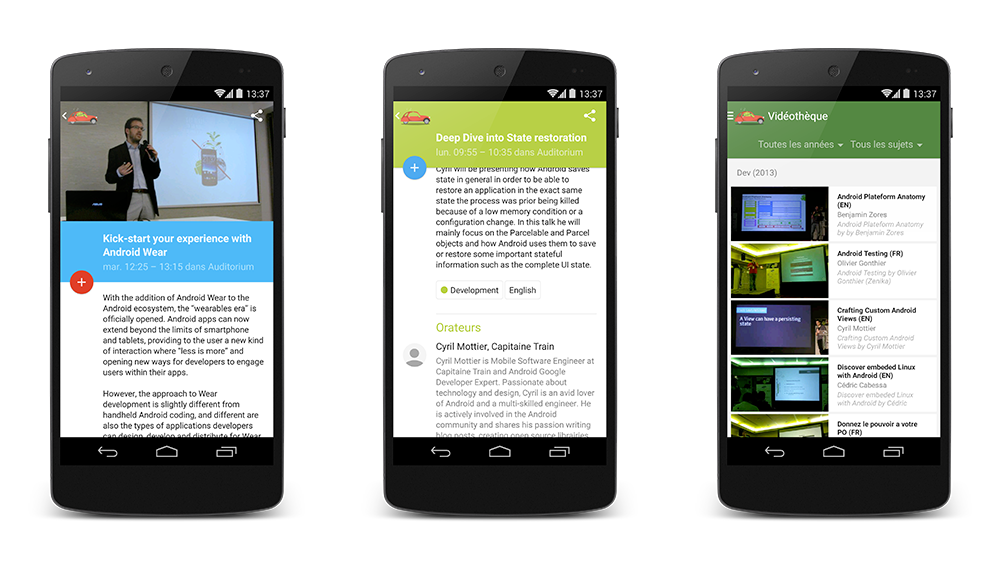 L'application Android de la Droidcon Paris est disponible sur le Google Play